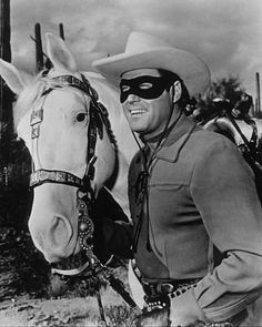 Lone Ranger, the- Masked good guy in the TV series The Lone Ranger- — Clayton Moore Clayton Moore, John Hart, The Lone Ranger, Tv Westerns, Western Movies, Western Film, Western Theme, Masked Man, Thing 1