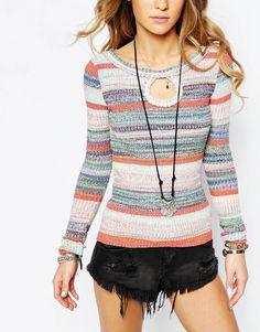 Image 3 of Free People Sunshine Daydream Stripe Knit Sweater