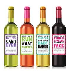Cheer Up Wine Label Set  Personalized Wine Label  by iCustomWine