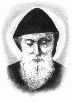 Saint Charbel Makhlouf St Charbel, Lebanon, Quilling, Pencil Drawings, Saints, Christian, Templates, Heart, Artwork