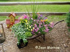 Cute planter idea - and I HAVE a wheelbarrow!!! :)