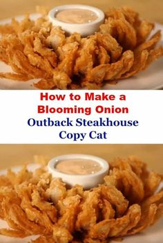 How to Make a Blooming Onion | Outback Steakhouse Copy Cat. It's hard to hold back whenever you see those blooming onions that resemble flower petals at Outback Steakhouse and other classic restaurants. The good news is that you can make them yourself right at home.  #outback #steakhouse #bloomin #onion #appetizer #superbowlsunday