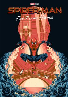 P945 New Spiderman Far From Home 2019 Marvel Comics Movie Poster Art Print
