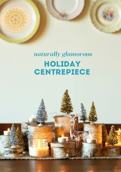 {HOLIDAY DIY: naturally glamorous holiday centrepiece} | The Sweet Escape