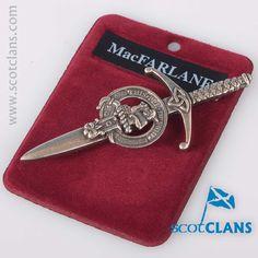 Macfarlane Clan Crest Kilt Pin. Free worldwide shipping available