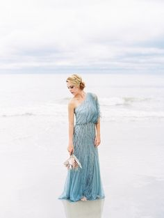 Pale Blue Coastal Wedding Inspiration | Wedding Sparrow