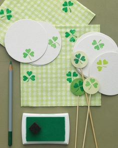 Shamrock Party Accessories | St. Patrick's Day Crafts