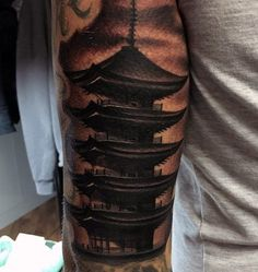 50 Japanese Temple Tattoo Designs For Men - Buddhist Ink Ideas Japanese Tattoo Designs, Tattoo Designs For Women, Tattoos For Women Small, Buddha Tattoos, Forearm Tattoos, Unique Tattoos, Cool Tattoos, Tatoos, Japanese Temple Tattoo