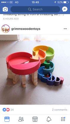 Rainbow Activities, Craft Activities For Kids, Grimm's Toys, Grimms Rainbow, Diy For Kids, Crafts For Kids, Rainbow Blocks, Wooden Rainbow, Rainbow Magic