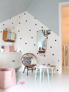 Polka Dots and Pastels | 12 Amazing Kids Bedrooms