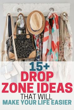These simple tips are SO GOOD! I set up my own drop zone using these ideas, and I feel so much more organized. INCREDIBLE!