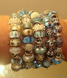 An armful of Trollbeads ocean love Not my bracelet, but, wow, I love these! cs