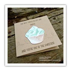 Sweet Cupcake Card by Lindsey Richards, Stampin' Up! lindseyrichards.stampinup.net