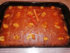 """Νόστιμη συνταγή μαγειρικής από """"Irini Baxevani-Απλές Συνταγές βήμα-βήμα"""" ΥΛΙΚΑ: 250γρ.βιταμ, 1φλ.ζαχαρη, 5 αυγά, 3 βανίλιες, 1κουτ.γλ σόδα, 1μπεικιν παουντερ, 1φλ.αλευρι φαριν απ, 2φλ.σιμιγδαλι ψιλό, ξύσμα από 3 πορτοκάλια, χυμό από 1 πορτοκάλι, ψιλοκομμένο γλυκο κουταλιού πορτοκάλι(όσο θέλετε) Meatloaf, Syrup, Chili, Sweets, Cooking, Desserts, Food, Kitchen, Tailgate Desserts"""