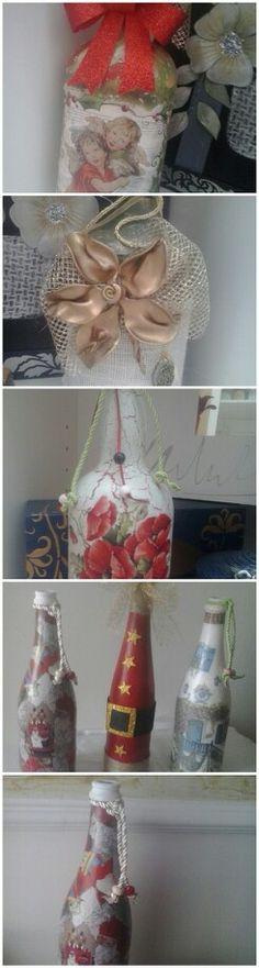 Botellas decoradas por afri