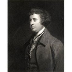 Edmund Burke 1729-1797 British Statesman Parliamentary Orator And Political Thinker From The Book Gallery Of Portraits- Published London 1833 Canvas Art - Ken Welsh Design Pics (13 x 17)