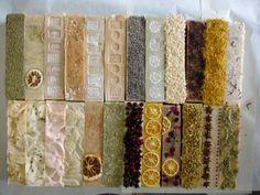 Handmade soap logs.