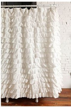 Ruffle shower curtain, I have one in my bathroom and it makes me happy just seeing it. #sephoracolorwash