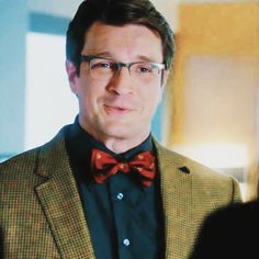 Castle in glasses and a bow tie ❤️❤️❤️