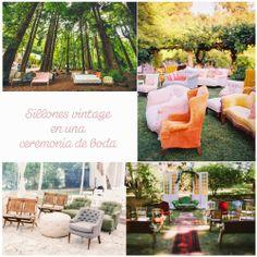 Blog de Organización de Bodas - Wedding Planner Madrid - Sillones Vintage Ceremonia Boda