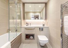 Photos of London - 45412228 - Zoopla Grey Kitchen Designs, Bathroom Design Small, Bathroom Layout, Bathroom Interior, Bathroom Goals, Fitted Bathroom, Master Bathroom, Barratt Homes Interiors, Bathroom Inspiration
