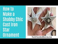 These rustic star ornaments are super easy to make & would look great on a rustic, shabby chic, or farmhouse Christmas tree. Christmas Ornaments To Make, Star Ornament, Diy Christmas Ornaments, Craft Supplies Online, Rustic Crafts, Faucet Handles, Shabby Chic Style, Handmade Shop, Super Easy