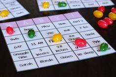 Mom to Be Bingo with free printable via play party pin