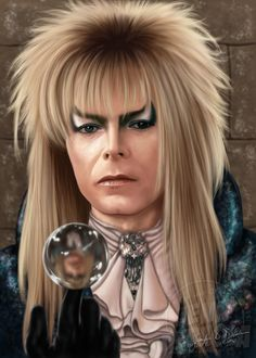 """As The World Falls Down..."" - Jareth of Labyrinth (David Bowie).  $12.00 on Etsy   Digital painting created using Photoshop CS3 and a Wacom Intuos 5 tablet.  www.jenndepaola.com"
