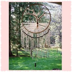 Tree of Life Dream Catcher 16 by CrystalCatchersShop on Etsy