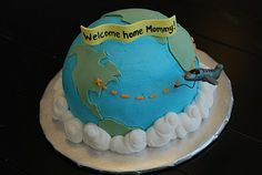 He's got the whole world in his hands... {3D Globe Cake} | A Little Something Sweet - Custom Cakes