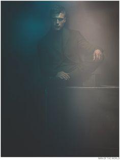 Clément Chabernaud Dons Bottega Veneta Fall 2014 for Man of the World image Clement Chabenraud Man of the World Photo Shoot 005