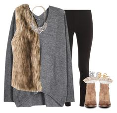 """""""opinions on the fur-vest trend?"""" by econgdon ❤ liked on Polyvore featuring Splendid, Vince, Forever 21 and H by Hudson"""