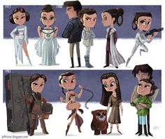 The Evolution of Princess Leia by Jeff Victor - Imgur