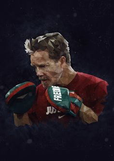 An illustration of the legendary boxing trainer, Freddie Roach by Trimm. www.trimmm.co.uk