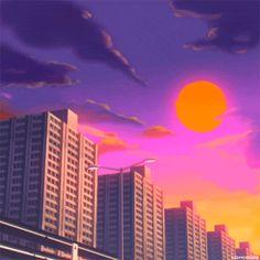 vaporwave roxo GOLD CITY by Kidmograph - vaporwave Film Aesthetic, Aesthetic Images, Aesthetic Videos, Aesthetic Backgrounds, Retro Aesthetic, Aesthetic Anime, Aesthetic Wallpapers, Vaporwave Gif, Cute Gifs
