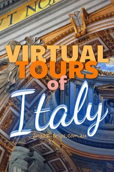 Exciting Virtual Tours Of Italy - travel online to some of the most iconic places in Italy, including Florence, Rome & Venice. #virtualitaly #virtualtravel #onlinetravel #italyonline #italytours #snazzytrips #travelitaly Italy Travel Tips, Europe Travel Guide, Europe Destinations, Virtual Travel, Virtual Tour, Things To Do In Italy, Italy Tours, Italy Trip, Travel Route