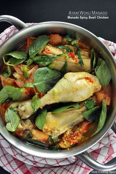 <p>Manado is definitely home of spicy dishes, ranging from rica-rica, dabu-dabu, tinoransak, to woku. What I love about Manado dishes is that the spiciness is always balanced with freshness, be it from the use of lime leaves, lemongrass, tomato, or in the case of a woku, lemon basil (Indonesian: daun …</p>