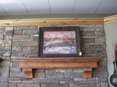 Knotty Alder Summit Fireplace Mantel Shelf & Corbels by Mantels