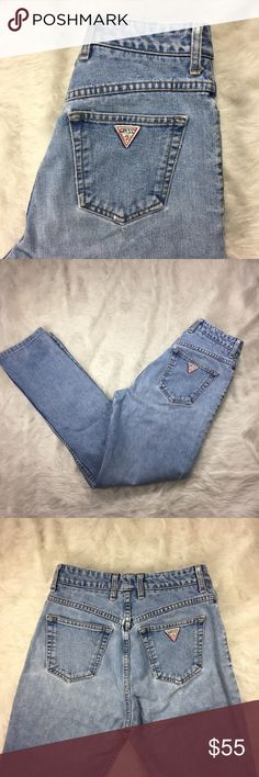 "Guess Vintage 90s High Waist Jeans Guess Vintage 90s Jeans  Measurements: Tag size: 29 Waist: 14.5"" Hips: 18"" Length: 40"" Rise: 12"" Condition: vintage, signs of wear  *No trades Guess Jeans"