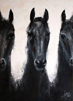 """Horse 41,"" original figurative painting by artist Alla Dzevaltovska available at Saatchi Art #SaatchiArt"
