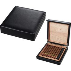 Visol Leather Cigar Humidor (Holds 16 Cigars)