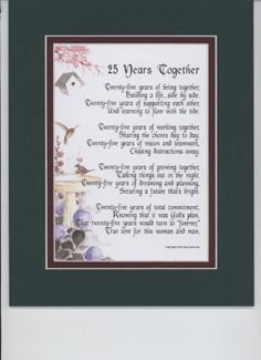 A Gift For 25th Wedding Anniversary