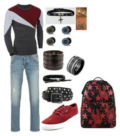 """""""Noah Palmer - Basic Outfit"""" by sonictf on Polyvore featuring Armani Jeans, Filament, Dsquared2, Rastaclat, Bling Jewelry, Reclaimed Vintage, men's fashion and menswear"""
