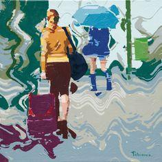 """Mostra """"Il viaggio"""" di Amato Patriaca, dal 16 gennaio al 10 febbraio 2013 allo Spazio Oberdan della Provincia di Milano. """"Figura con valigia"""""""