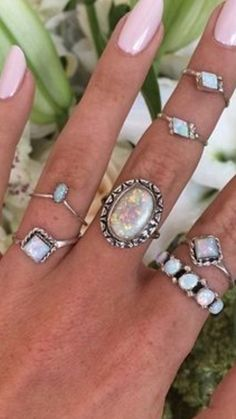 Love the look of layering your rings.
