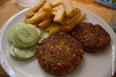 Wos zum Essn: Mehr Burger! Wie wärs mit Tofu-Gemüse-Bratlingen?
