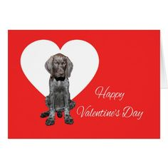 A Glossy Grizzly Valentine Puppy Love Card