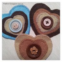 Buttons and hearts wall hanging - Fitzbirch Crafts