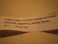 Ingredients Organic Soap, Orange Blossom, Grapefruit, Soaps, Hand Soaps, Orange Flowers, Soap