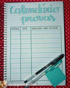 Inspiração Nos Estudos✍🏼 (@inspiracaonosestudos) • Instagram photos and videos Bullet Journal School, Bullet Journal Tracker, School Diary, Study Organization, Bujo, Study Planner, Lettering Tutorial, School Notes, Study Notes